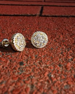 Aros flower diamonds 18k gold