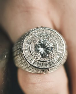 Anillo Baguette Big Diamond 18K White Gold