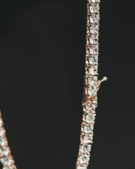 Tennis díamond 4mm 18k gold rose