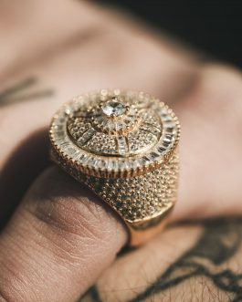 Anillo Solitario Baguette 18K Gold