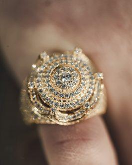 Anillo Solitario Corona 18K Gold
