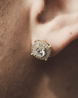 Aros big Diamond sobresalido 18k gold