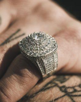 Anillo Torre Big Diamond 18K White Gold