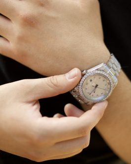 Reloj Diamond Luxury 18k white gold
