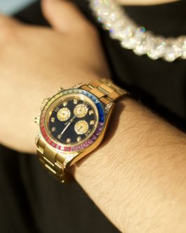 Reloj Diamond rainbow 18k gold