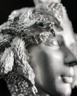 Medalla Medusa White Gold 18k