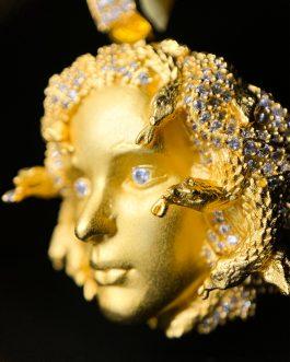 Medalla Medusa Gold 18k