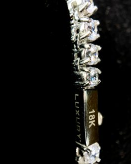 Tennis 4mm White Gold 18k